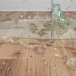 Water damage on hardwood